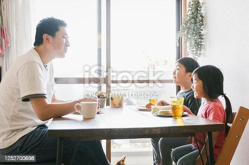 1152545468 istock photo Family having lunch at home 1252700698
