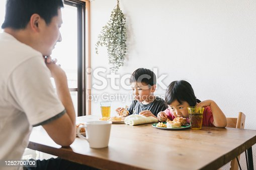 1152545468 istock photo Family having lunch at home 1252700700
