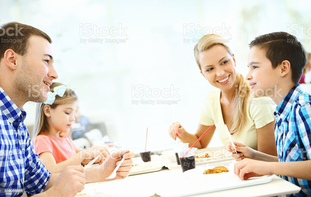 Family having lunch. stock photo