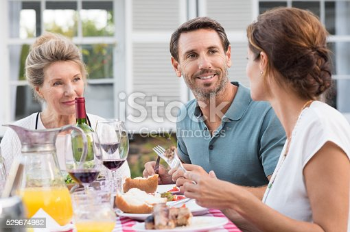 istock Family having lunch 529674982