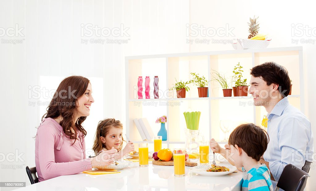 Family Having Lunch together stock photo