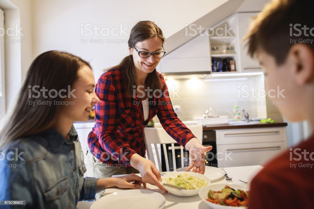 Family having lunch together royalty-free stock photo