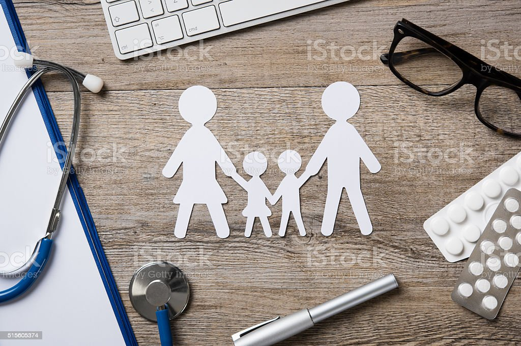 Family healthcare stock photo