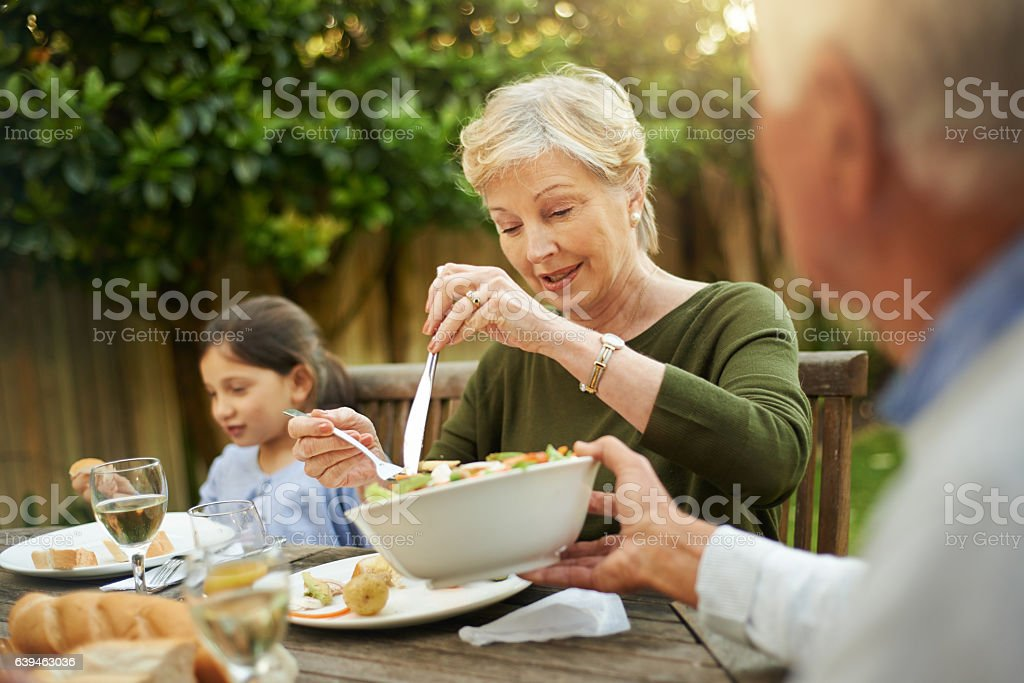 Family help each other with love stock photo
