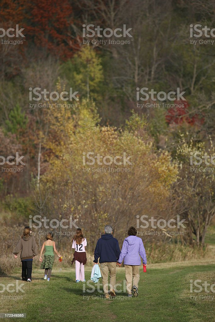 Family Hike in the Countryside royalty-free stock photo