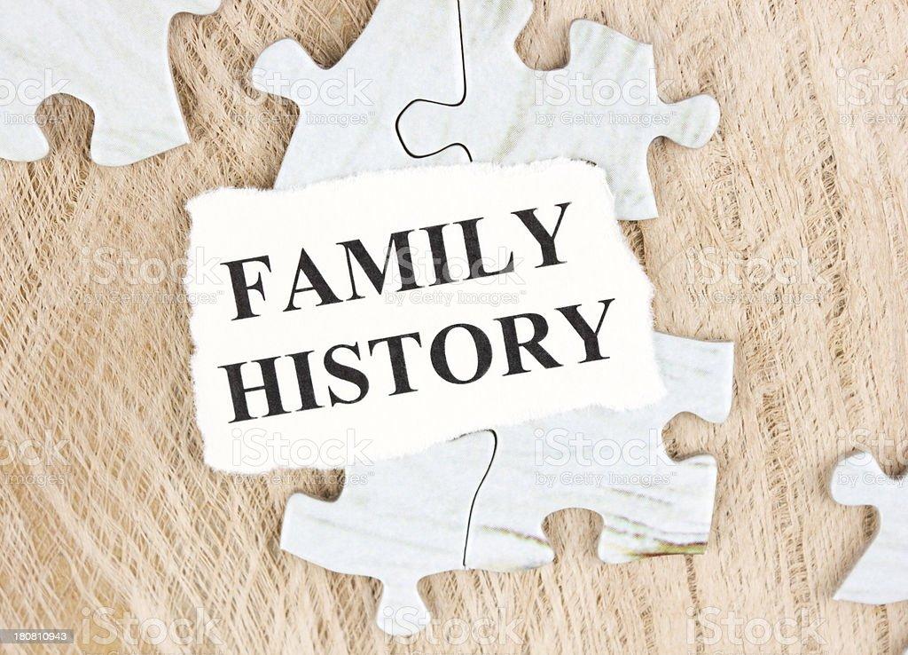 Family history stock photo