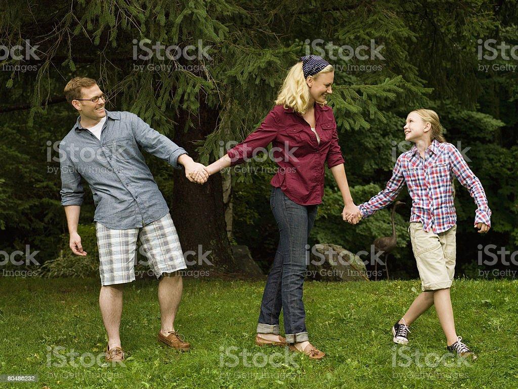 Family holding hands 免版稅 stock photo