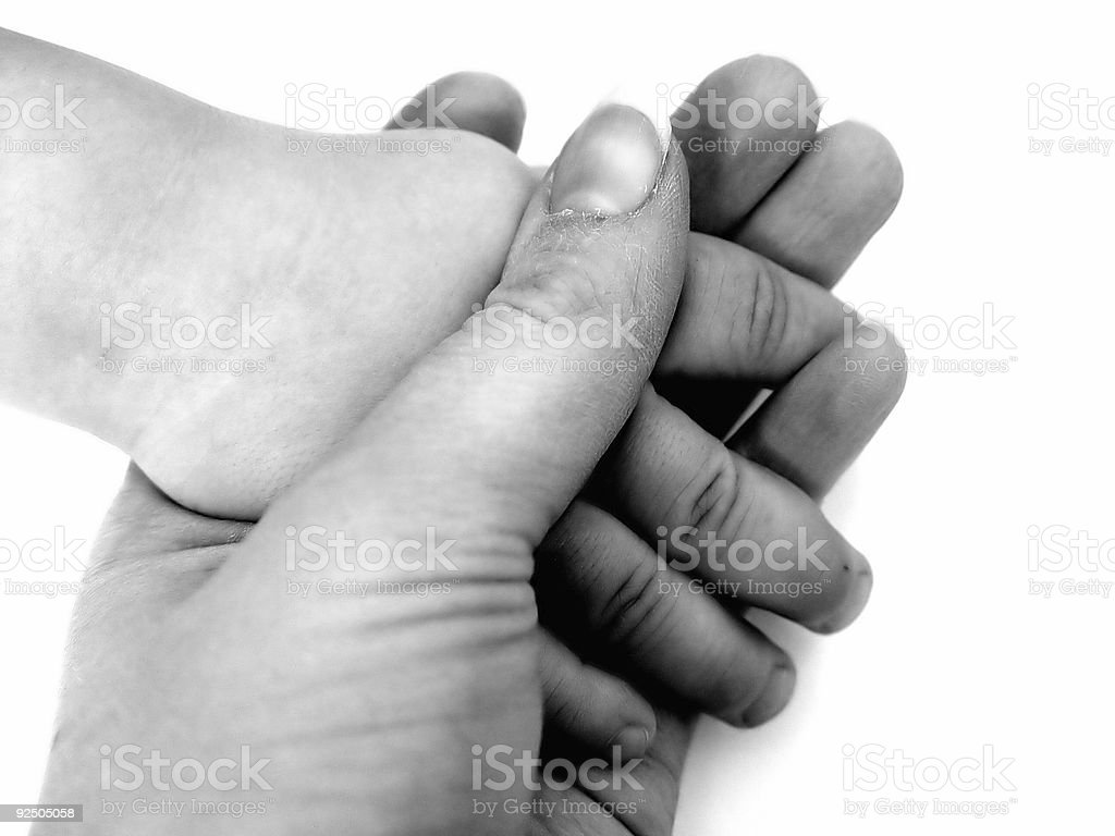 Family Holding Hands royalty-free stock photo