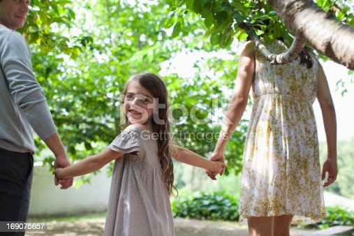 135384905 istock photo Family holding hands together outdoors 169075657