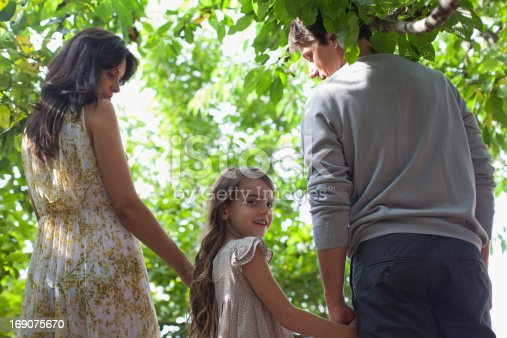 135384905 istock photo Family holding hands together outdoors 169075670