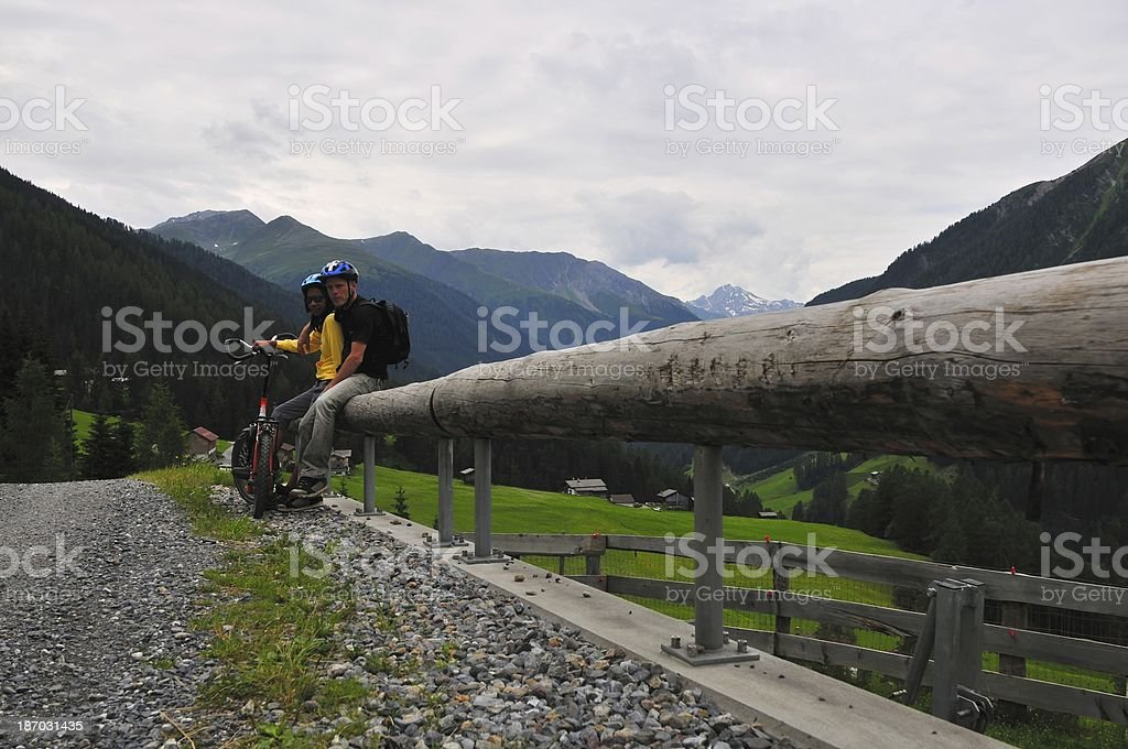 Family Holiday In The Alps,Switzerland royalty-free stock photo