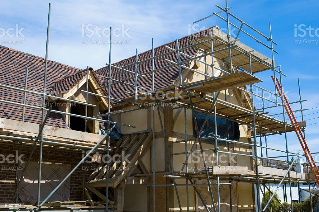 Family home construction project royalty-free stock photo