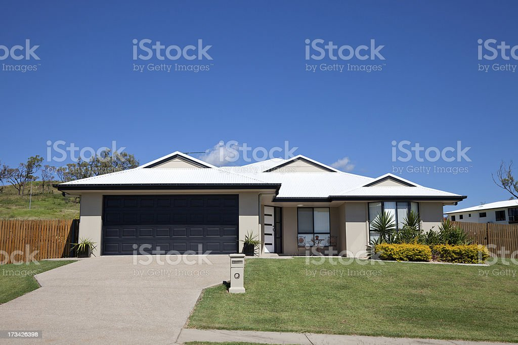 Family Home Front royalty-free stock photo