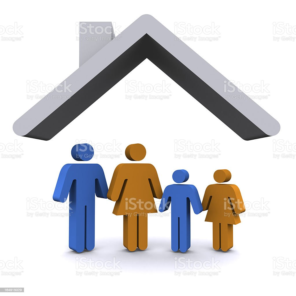 Family Home royalty-free stock photo