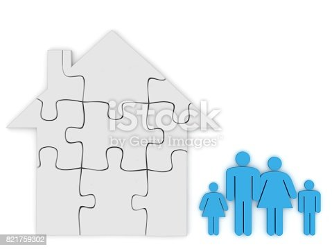 470163746 istock photo Family house property insurance protection 821759302