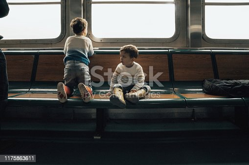 istock Family in a Ferry in New York city 1175863611