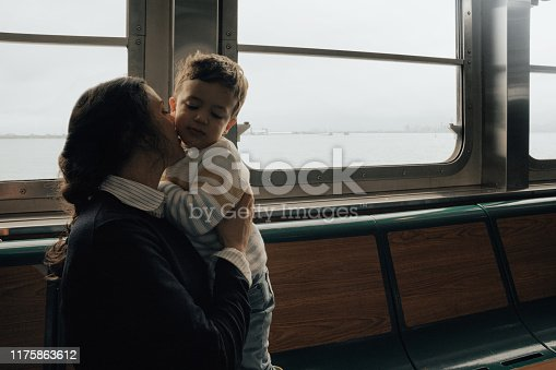 Family in a Ferry in New York city