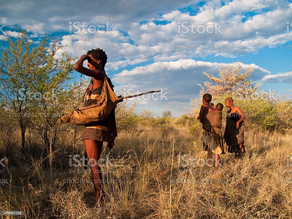 Family in bush royalty-free stock photo
