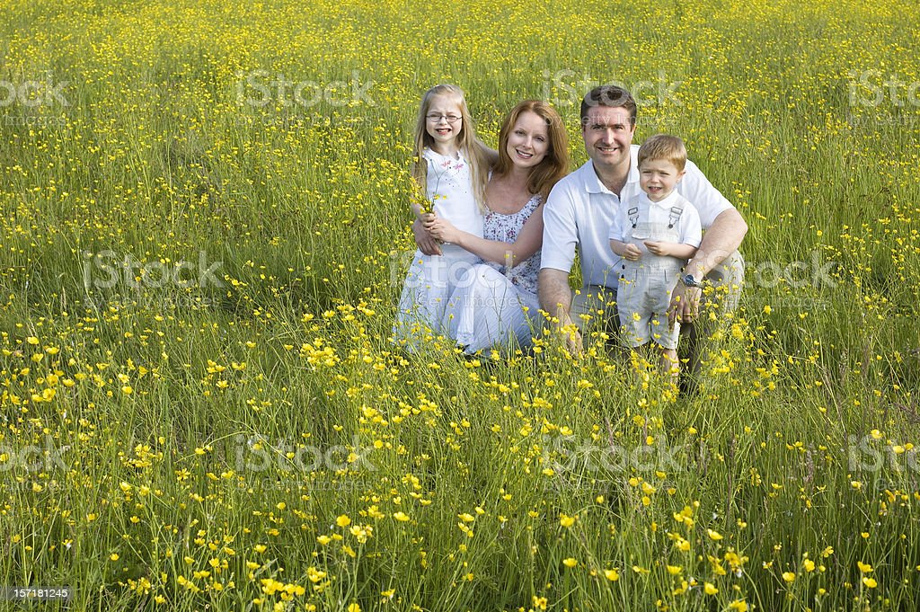 Family in Field royalty-free stock photo