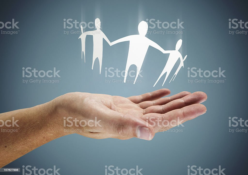 Family in Hand stock photo