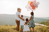istock Family in nature 1168142703