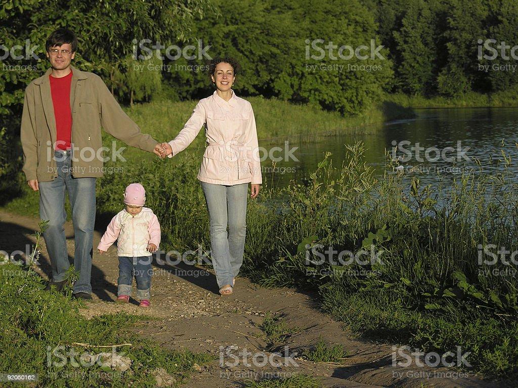 family in park royalty-free stock photo