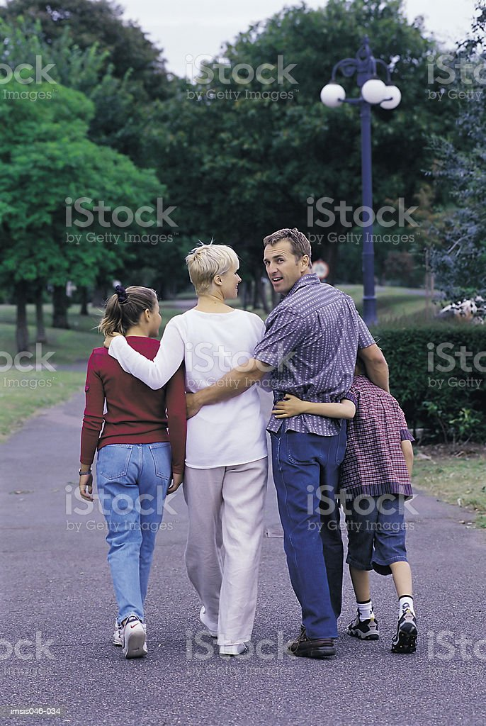 Family in park royalty-free stock photo