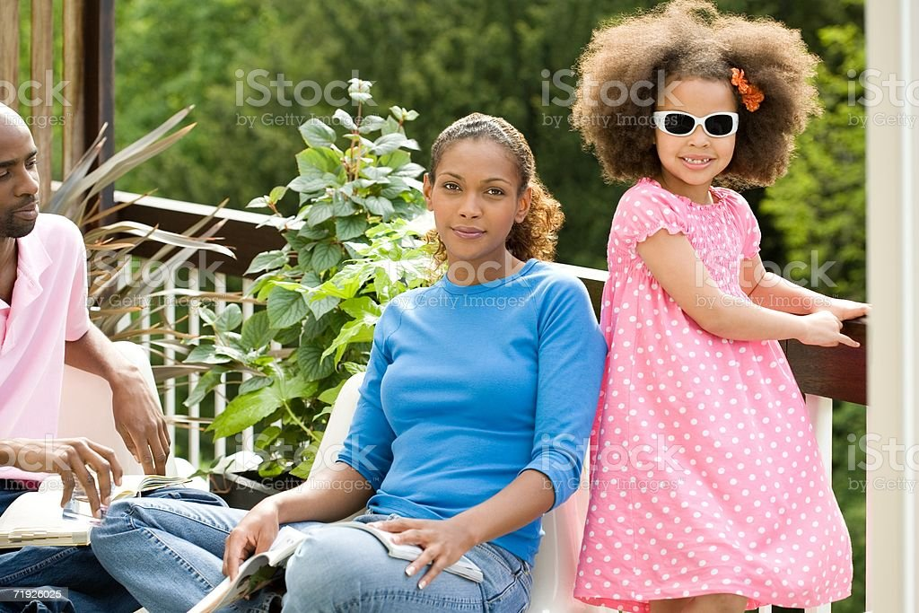 Family in the garden royalty-free stock photo