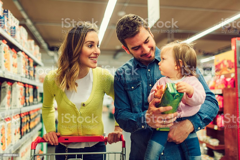 Family In The Shopping stock photo