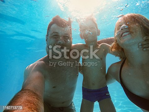 596350174istockphoto Family in the swimming pool 1162713773