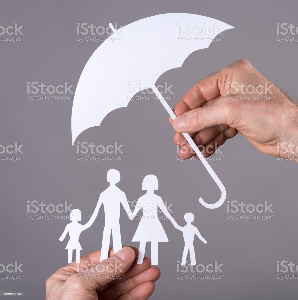 Family insurance concept stock photo