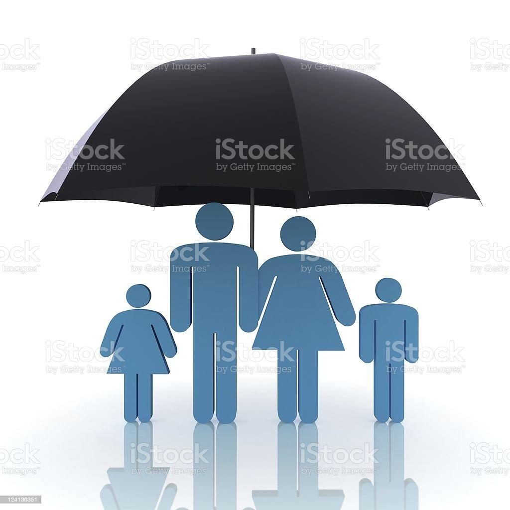 Family Insurance stock photo