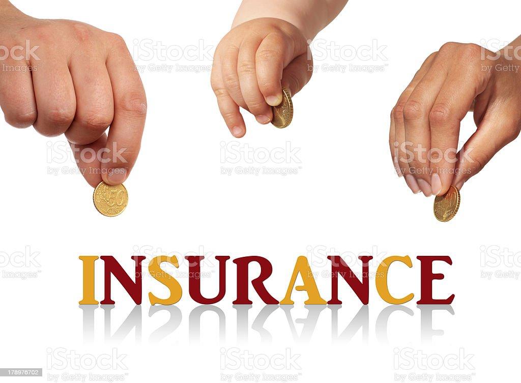 Family insurance. - Royalty-free Adult Stock Photo