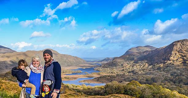 Family Ireland Vacation stock photo