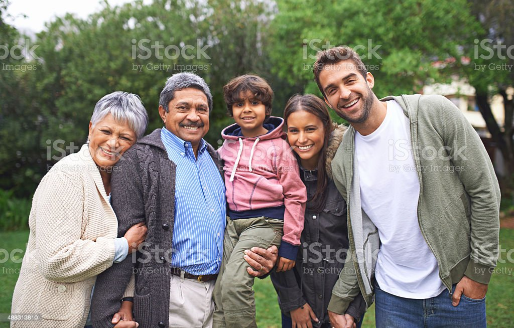 Family is a little world created by love stock photo