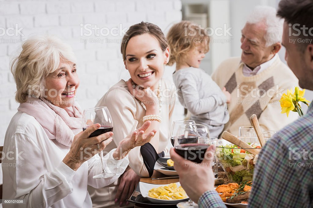 Family is a priceless treasure... stock photo