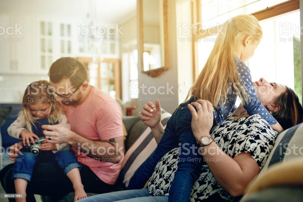 Family is always worth the time zbiór zdjęć royalty-free