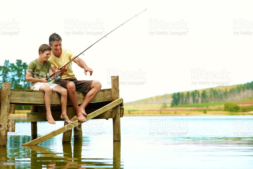 Family is life's greatest catch stock photo