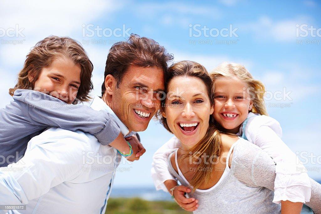 Family is life's greatest joy royalty-free stock photo