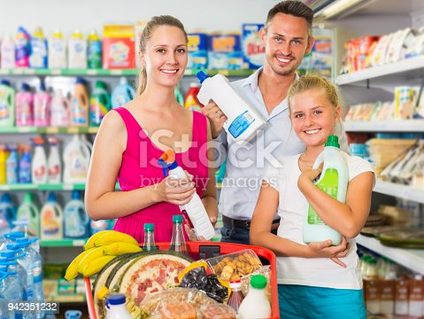 istock Family is selecting detergents 942351232