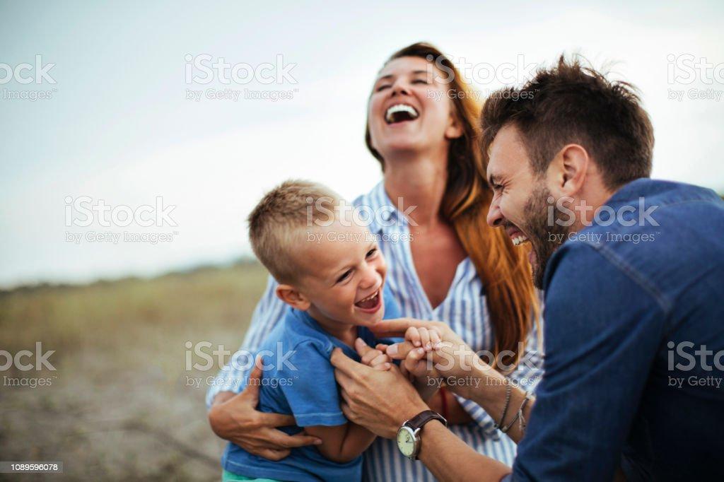 Familie Freude - Lizenzfrei Beide Elternteile Stock-Foto