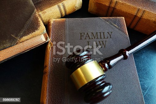 istock Family Law book 598689282