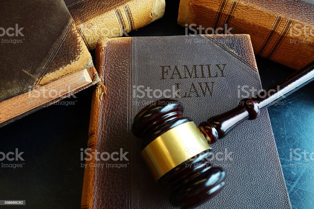 Family Law book stock photo