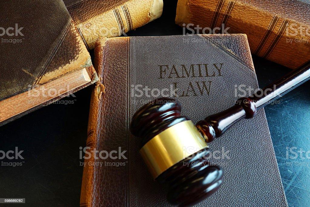 Family Law book - foto de stock
