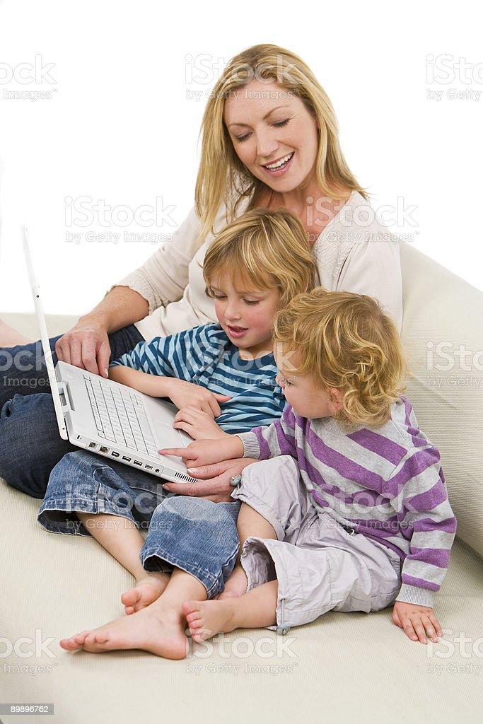 Family Learning royalty-free stock photo