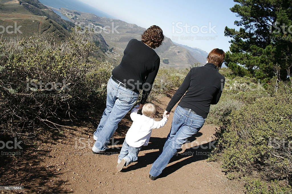 Family Leaving the Headlands IIII royalty-free stock photo