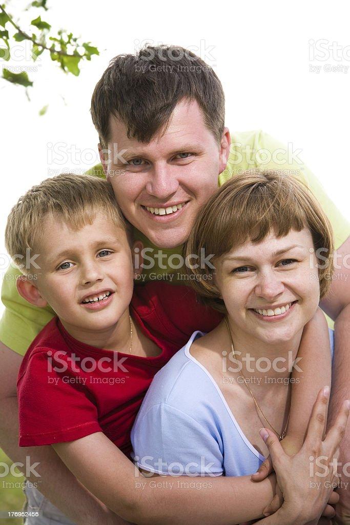 family lifestyle portrait royalty-free stock photo