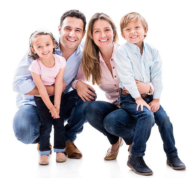 Glückliche Familie suchen – Foto