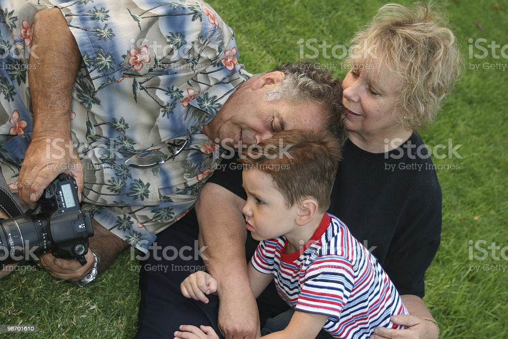 Family loves digital! royalty-free stock photo
