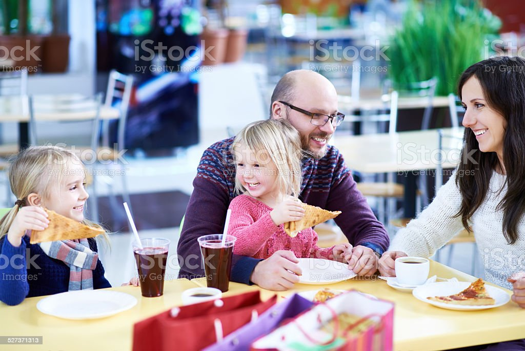 Family lunch stock photo